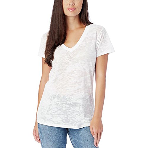 Alternative Womens Burn Out Ideal V-Neck Tee