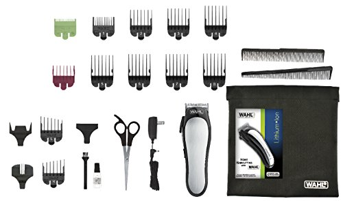 Wahl 25 Piece Kit Lithium Ion Clipper - Including Storage Case - 5 Minute Super Quick Charge