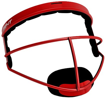 RIP-IT Defense Pro - The Ultimate Softball Fielder's Mask - Lightweight Protection with Uninhibited Visibility, Performance, and Blackout Technology - Scarlet - Youth by RIP-IT