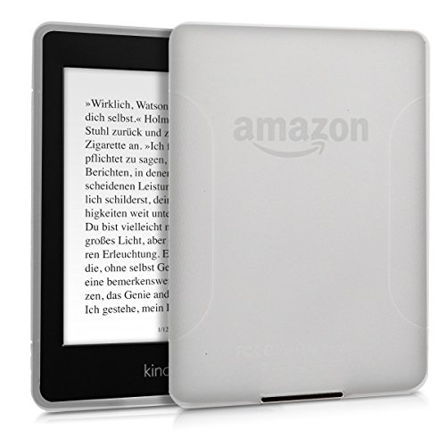kwmobile Cover for Amazon Kindle Paperwhite - TPU silicone case protective cover for eReader - Back cover case in matte transparent by kwmobile