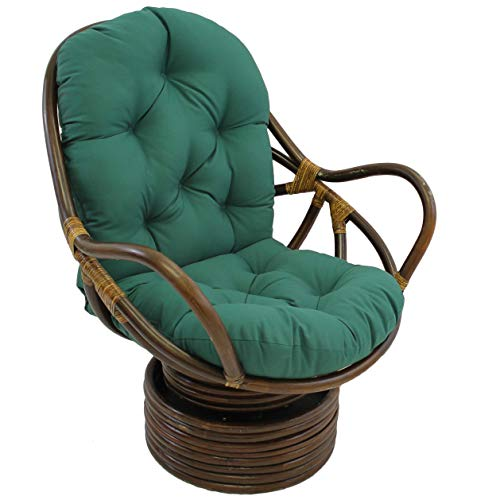 - Blazing Needles Solid Twill Swivel Rocker Chair Cushion, 48
