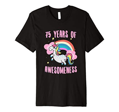 75th Birthday Unicorn Tshirt Women Gifts Age 75 Grandma Mom