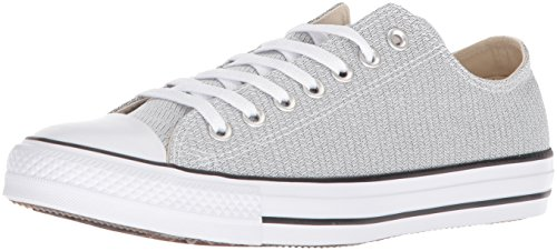 Converse Men's Chuck Taylor All Star Basketweave Low Top Sneaker, White/Black/White, 8.5 M US