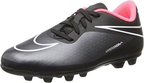 New Nike Boy's JR Hypervenom Phade FG-R Soccer Cleats Black/Hyper Punch 13.5