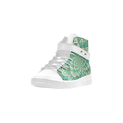 D-story Bout Rond Haut Chaussures Haut Lotus Fleur Modèle Femmes Baskets