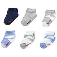 Hanes Boys' Toddler 6-Pack Ankle Socks,Assorted,6-12 Months