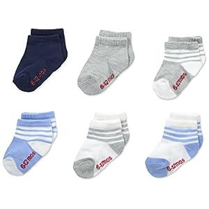 Hanes Boys' Toddler 6-Pack Ankle Socks