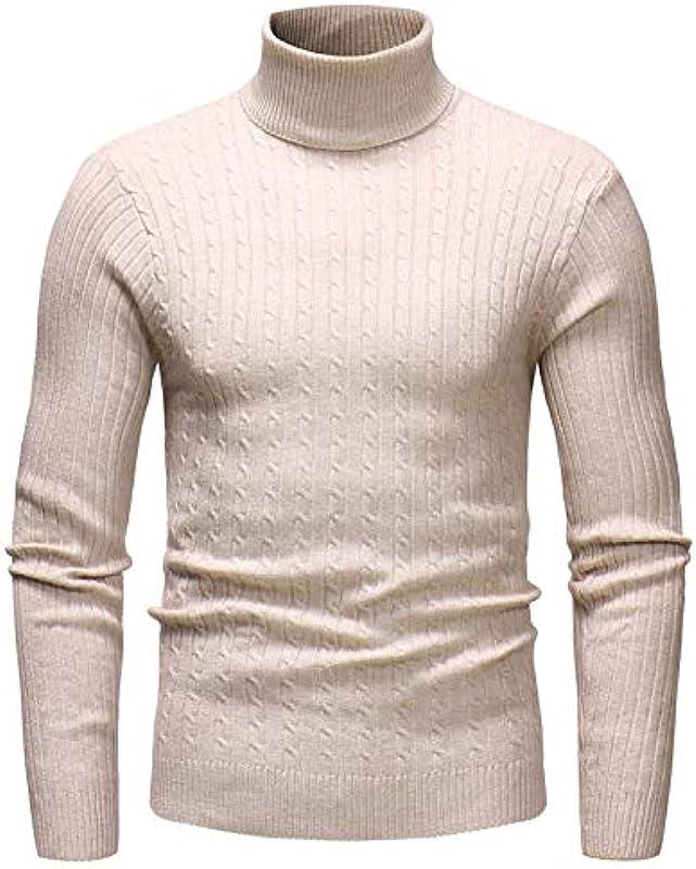 NTOW Męski Solid sweter Turtleneck bawełna luźny krÓj slim fit długi rękaw sweter sweter sweter sweter sweter sweter sweter sweter sweter sweter sweter sweter: Odzież