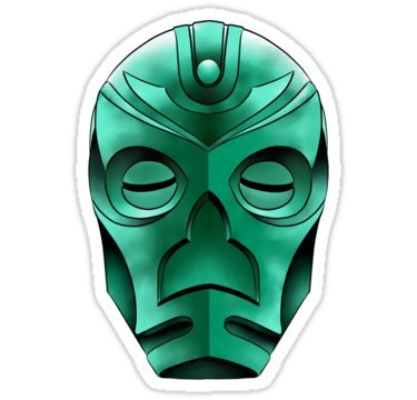 traditional dragon priest mask - Sticker Graphic Bumper Window Sicker Decal - Doctor Who Dr Who Sticker