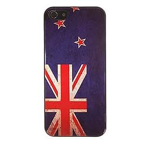 Patrón de la bandera americana del estuche rígido suave para 5/5s iphone