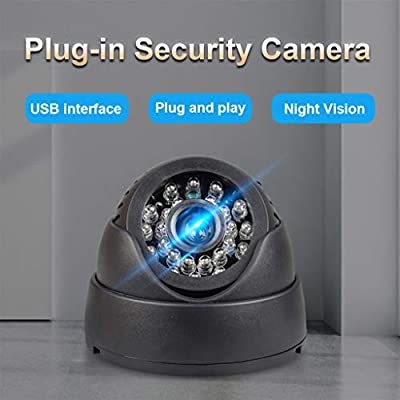 HD Home Surveillance Security Plug-in Camera,Unine Dome Cameras Surveillance System,Security Cam with Clear Night Vision,Simultaneous Recording,Loop Record,Support 32G TF Card