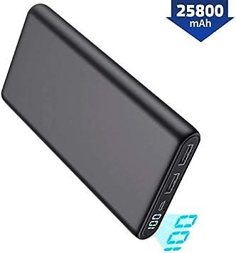 Pxwaxpy Batería Externa 25800mAh【Última Diseño de Pantalla ...