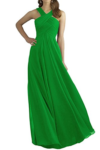 VaniaDress Women Halter Neck A Line Long Prom Dress Evening Gowns V211LF Green US14