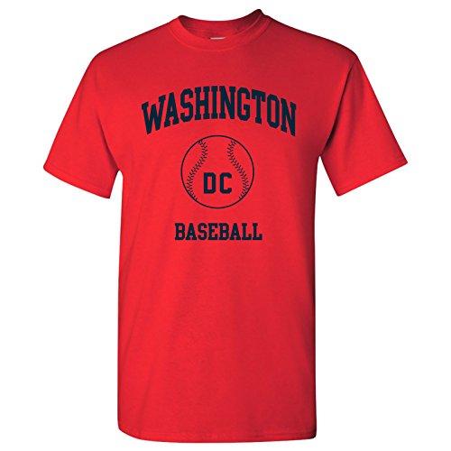 Washington Classic Baseball Arch - Stadium, Jersey Team Sports, Batter, Pitcher T-Shirt - 2X-Large - (Washington Nationals Classic Shirt)