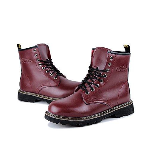 LOVDRAM Stiefel Männer Winter Männer Martin Stiefel Mikrofaser Warme Männer Stiefel Casual Baumwolle Schuhe Verdickt Stiefel Mode Stiefel