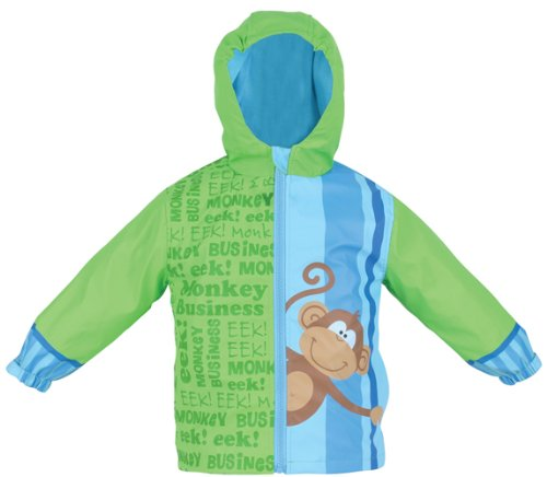 Stephen Joseph Little Boys' Monkey Rain Coat