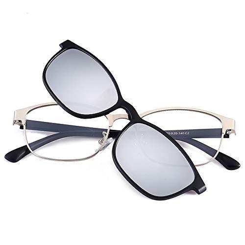 de Coreana C de Gafas de la de de Gafas polarizador la Marco Las Espejo Femenino Sol Personalidad Espejo Masculino de Sol versión Metal miopía de magnético D KOMNY Tendencia la PZdw5xfZ