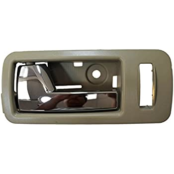 for Chrysler Inside Door Handle Front Right Beige Chrome Lever Woodgrain Bezel