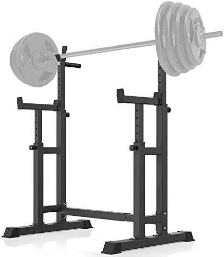YouTen 800LBS Adjustable Sturdy Steel Barbell Squat Rack, Dumbbell Rack for Home Gym Exercise Fitness,Height Range 26.8 to 55.9