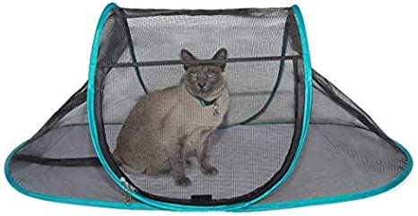 Nala And Company The Cat House Outdoor Pet Enclosure For Indoor Cats 43 X 23 X 18 Portable View Pop Up Lounger Tent For Deck Patio Porch