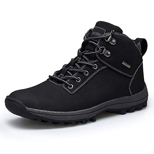 UBHOME Mens Hiking Boots Ankle Support Waterproof Breathable Winter Outdoor Sports Shoes Black