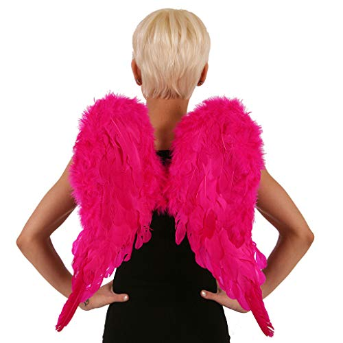 Zucker Feather Pink Cosplay Angel Wings, Small Halloween Fairy Wings, 20