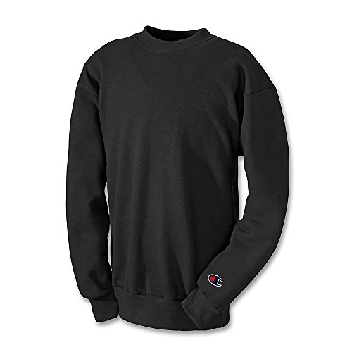 Champion Boys Big Boys' Powerblend Eco Fleece Sweatshirt, Black, M