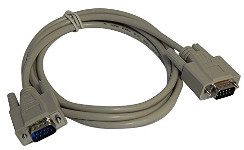 (Your Cable Store 6 Foot DB9 9 Pin Serial Port Cable Male / Male RS232)