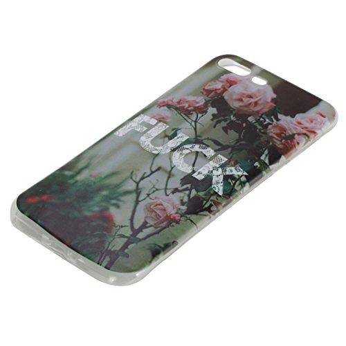 Für Apple iPhone 7 Plus (5,5 Zoll) Hülle ZeWoo® TPU Schutzhülle Silikon Tasche Case Cover - HX017 / FUCK