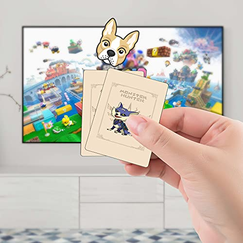 9 Pcs MonsterHunter Rise Amiibo Cards NFC Tags, Palamute, Palico, Magnamalo, Acessorz MH Rise NFC Tags Game Cards, Compatible with Switch/Switch Lite/Wii U