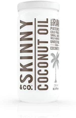 SKINNY and CO. Organic 100% RAW Virgin Skinny Coconut Oil for Skin and Hair and Supplement (8.5 fl oz.)