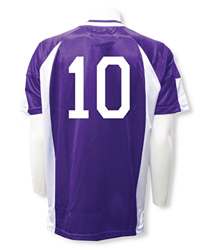 Imperial soccer jersey customized with your player number - size Adult M - color Purple/White