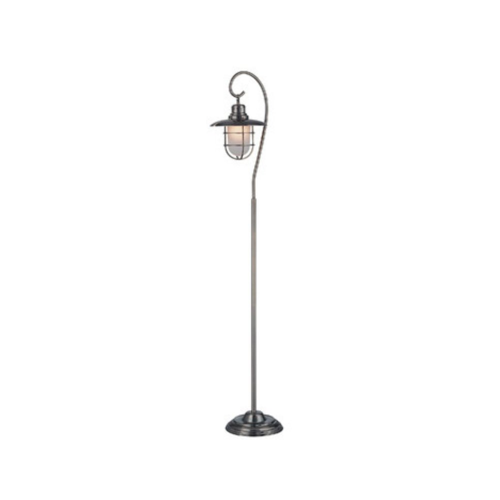 Vintage Style Floor Lamp For Retro Decor Home Living Room in Antique Brass Finish, 58 Inch Tall