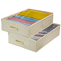 Store and protect household essentials with Sorbus Underbed Storage Organizers!  No more searching through an overstuffed closet! Pack, zip, and transport bedding, clothes, linen, and more with a clear view! This set is perfect for long term...