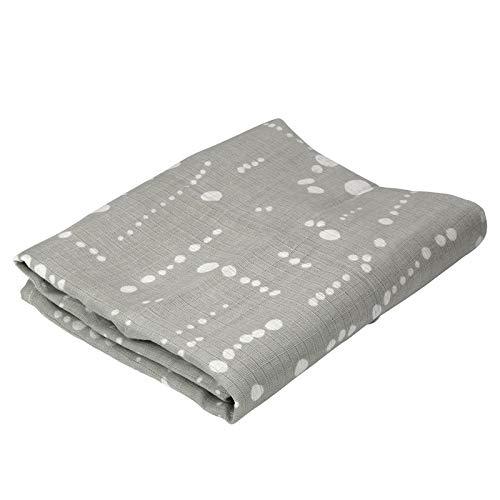 Oliver & Rain Boy, Girl, Unisex Organic Muslin Swaddle Baby Blanket, Grey Paint