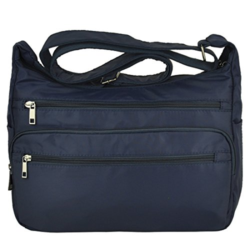 Blue Fabric Handbags - Volcanic Rock Shoulder Bags Messenger Handbags Multi Pocket Waterproof Crossbody Bags(6022-Blue)