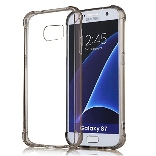 Galaxy S7 Case,ibarbe Slim Clear Cover Crystal Clear Resilient Shock Absorption Bumper Soft TPU Cover Case for Samsung Galaxy S7 SM-G930
