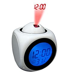 Mily Alarm Clock Projection On Ceiling Atomic Projects Wall Projection Alarm Clocks For Bedrooms Kids White
