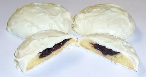 Scott's Cakes White Chocolate Covered Blueberry Butter Cookies in a 1 Pound Plastic Deli Container (Cookies Butter Boxed)