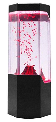 Lightahead LED Volcano Lamp Red Lava Erupting Mini Led Lit Water Volcano Lamp