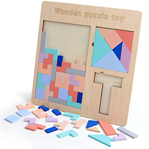shyln Children Christmas Montessori 3 in 1 Math Toys 3D Puzzle Wooden Toys for Children Learning Education Sensory Mathematics Jigsaw Maze Games Kid's Supplies Doll Toys (Difference Between Special Education And Regular Education)