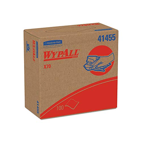 Wipers White Box (An Item of WypAll - X70 Wipers, POP-UP Box, 9 1/10 x 16 4/5, White, 100/Box - 10 Boxes/Carton - Pack of 1)