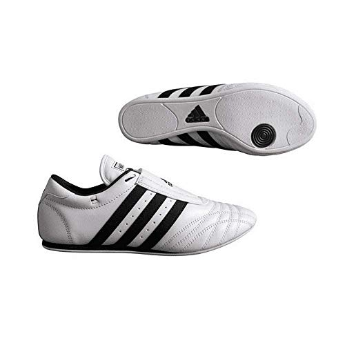 adidas SM II Shoe White w/Black Stripes, 10.5