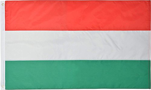 Green Grove Products Hungary Flag 3' x 5' Ft 210D Nylon Premium Outdoor Hungarian Flag