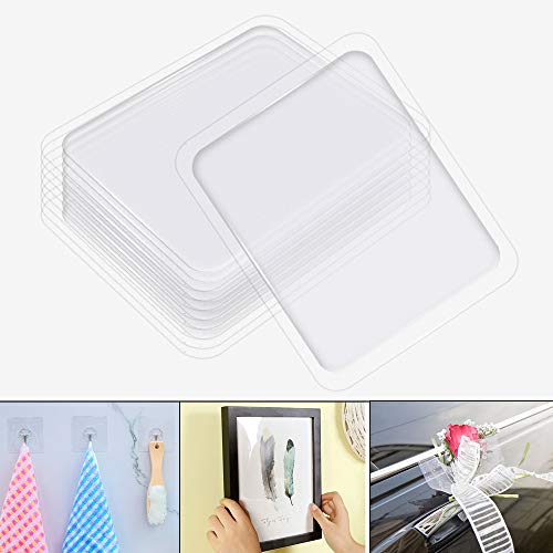 Silicone Non-Slip Stickers, Multifunction Double Sided Gel Pads Anti Slip Mats, Transparent Silicone Adhesive Stickers, Stick to Anywhere and Holds Anything by JPSOR (20pcs) (Clear)