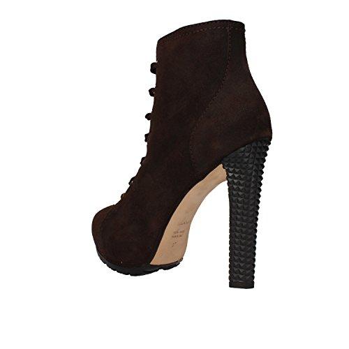 Chaussures Femme DSQUARouge Bottines brun foncé daim AM637