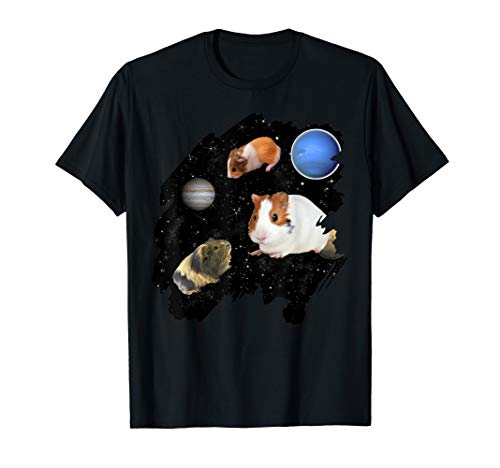- Guinea Pig Space T-shirt Guinea Pigs flying Galaxy Gift