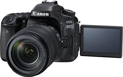 Canon EOS 80D 24.2MP Digital SLR Camera (Black) + EF-S 18-135mm f/3.5-5.6 Image Stabilization USM Lens Kit + 16GB Memory… 2