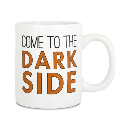 Pavilion Gift Company 18011 12-Ounce Sorta-Sarcastic Ceramic Mug, 4-Inch, The Dark Side