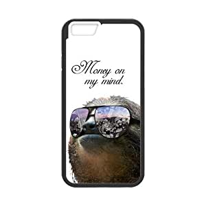 iPhone 6 Protective Case -Funny Hipster Sloth Hardshell Cell Phone Cover Case for New iPhone 6